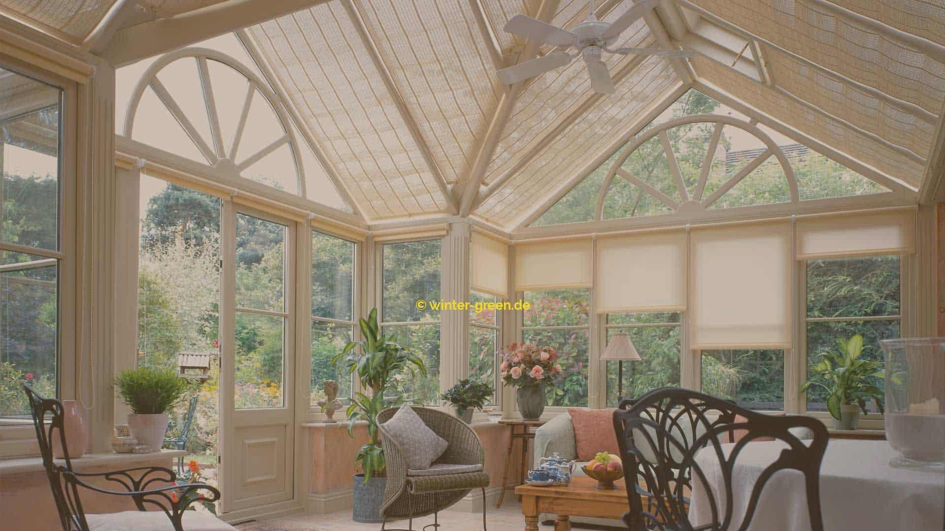 Innenraum englischer / viktorianischer Wintergarten