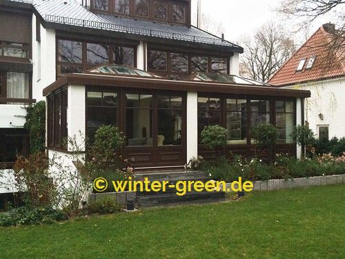 braune englische viktorianische winterg rten vom profi. Black Bedroom Furniture Sets. Home Design Ideas